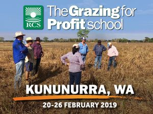 The Grazing for Profit School Kununurra. People standing in a paddock.