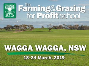 The Farming and grazing for profit school wagga wagga. A green field of wheat.