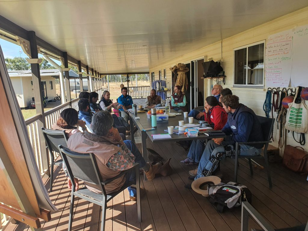 DistrictLink discussions on the veranda at Charters Towers