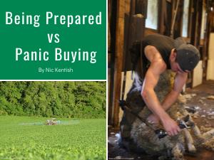 Being Prepared vs. Panic Buying