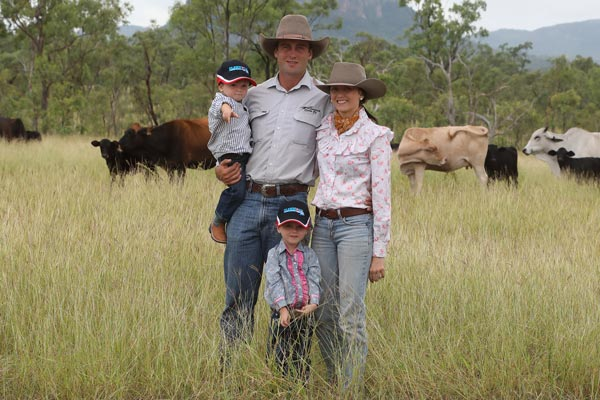 Hughes family in a paddock
