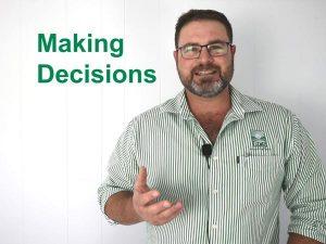 Making decisions - David McLean