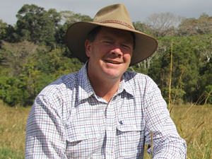 RCS vegetation management expert Peter Spies in the field
